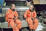 Tommy Lee Jones and Clint Eastwood in Space Cowboys