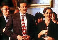 Colin Firth and Embeth Davidtz in Bridget Jones's Diary