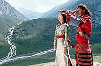 "Zhang Zi-Yi and Chang Chen in ""Crouching Tiger, Hidden Dragon"""