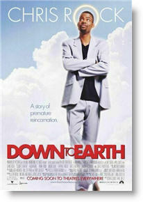 Down to Earth poster. Copyright 2001, Paramount Pictures.
