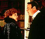 "Gillian Anderson and Dan Aykroyd in ""House of Mirth"""