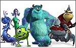 Voices of Steve Buscemi, Jennifer Tilly, Billy Crystal, John Goodman, James Coburn, and Bob Peterson in Monsters, Inc.