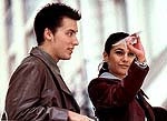"Lance Bass and Emmanuelle Chriqui in ""On the Line"""