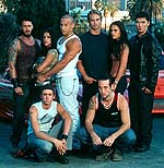 Cast of The Fast and the Furious. Copyrighted.