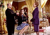 "Larry Miller, Anne Hathaway and Julie Andrews in ""The Princess Diaries"""