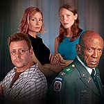 "Judd Nelson, Louis Gossett Jr., Michelle Nolden and Deborah Odell in ""Deceived"""