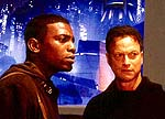 "Mekhi Phifer and Gary Sinise in ""Impostor"""