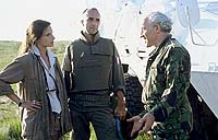 "Katrin Cartlidge, Georges Siatidis and Simon Callow in ""No Mans Land"""