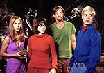 "Sarah Michelle Gellar, Linda Cardellini, Matthew Lillard and Freddie Prinze Jr. in ""Scooby Doo"""