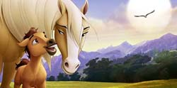 Scene from Spirit: Stallion of the Cimarron
