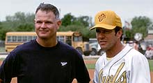 Real-life Jim Morris with Actor Dennis Quaid
