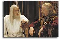 Theoden, King of Rohan and Gandalf the White