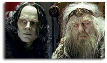 Grima Wormtongue and King Theoden of Rohan