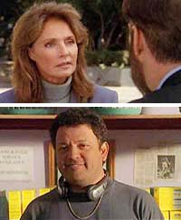 "Jennifer O'Neill (top) as Michelle Bain and Paul Rodriguez (bottom) as Eddie Martinez and in ""Time Changer"""