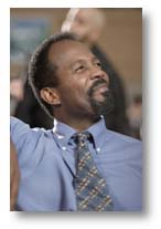 "Clarence Gilyard as Pastor Bruce Barnes in ""Left Behind II: Tribulation Force"""