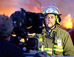 "Pastor/Firefighter Tim Dorsch in ""Warriors of the Flames"""