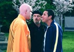 "Adam Sandler, Jack Nicholson and John C. Reilly in ""Anger Management,"" courtesy of Sony"