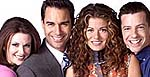 Cast from 'Will and Grace'. Copyright NBC.