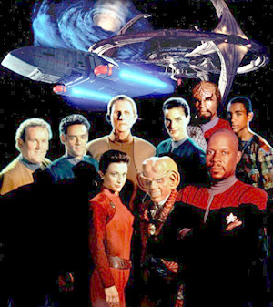 Star Trek: Deep Space Nine characters. Copyright © CBS Television Distribution.